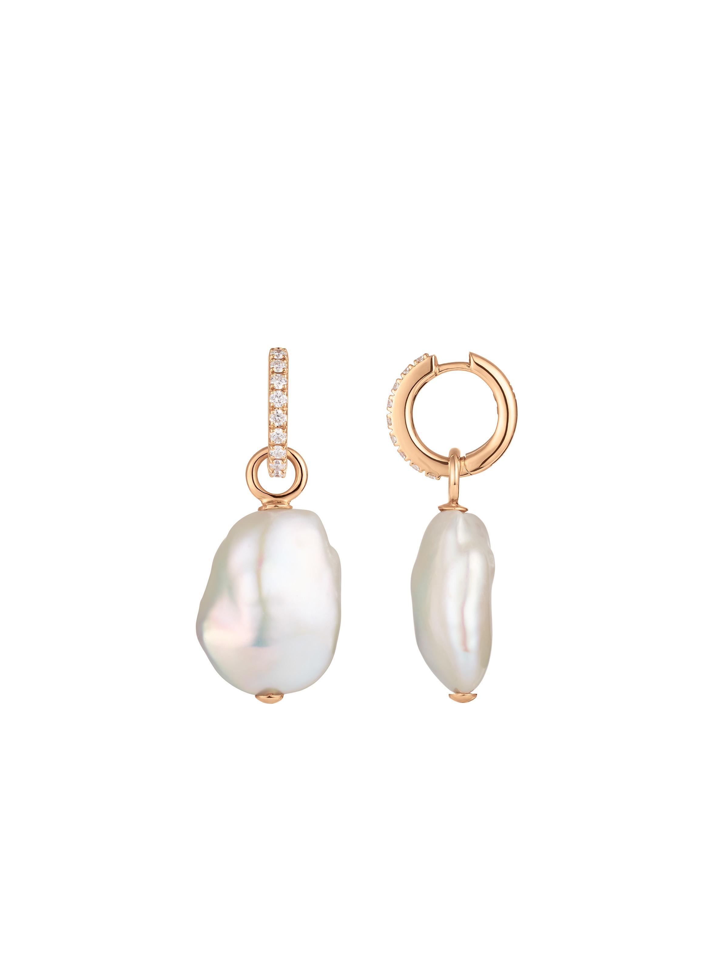 Tidedrops hoop earrings