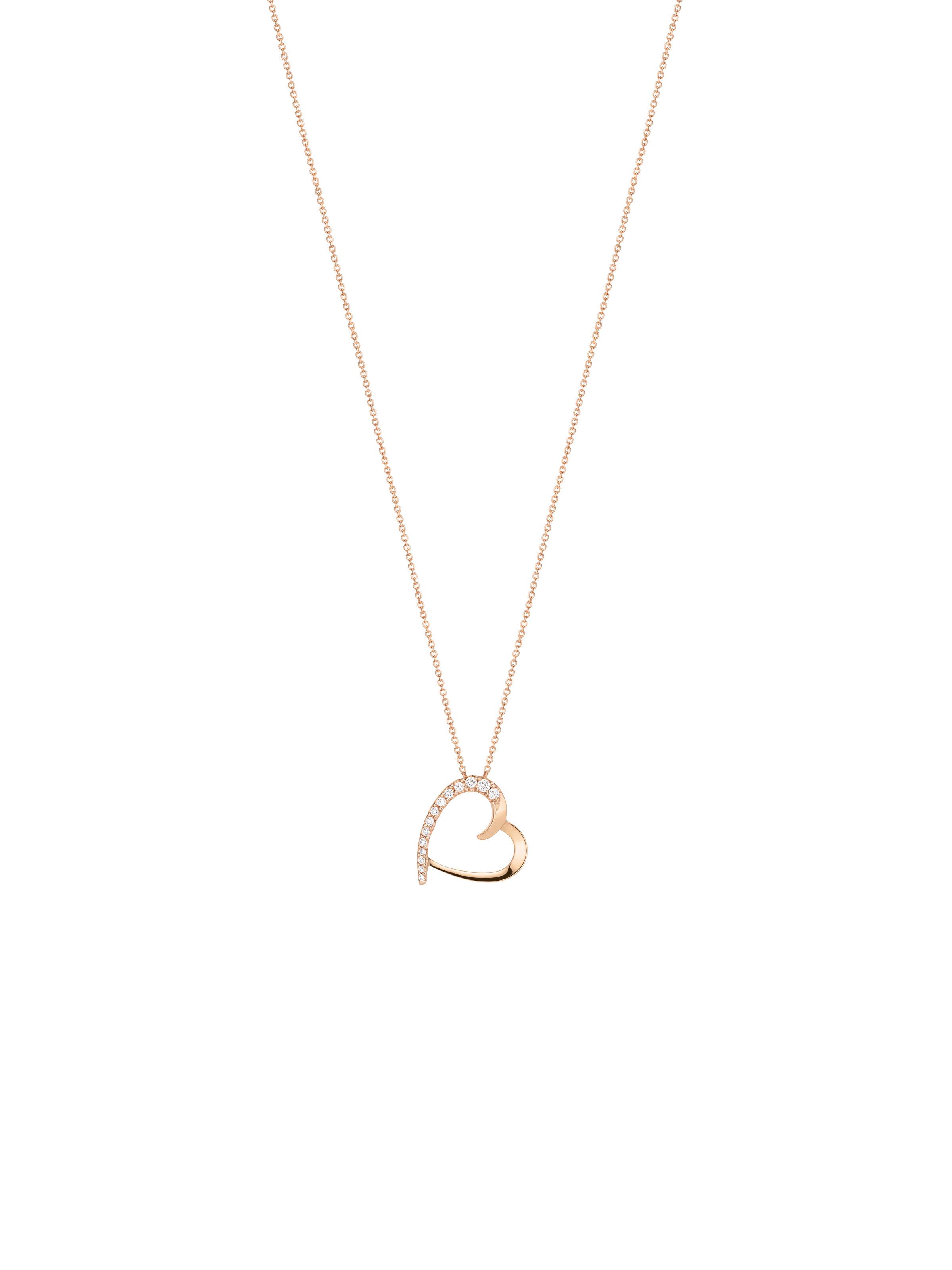 Papillon heart pendant