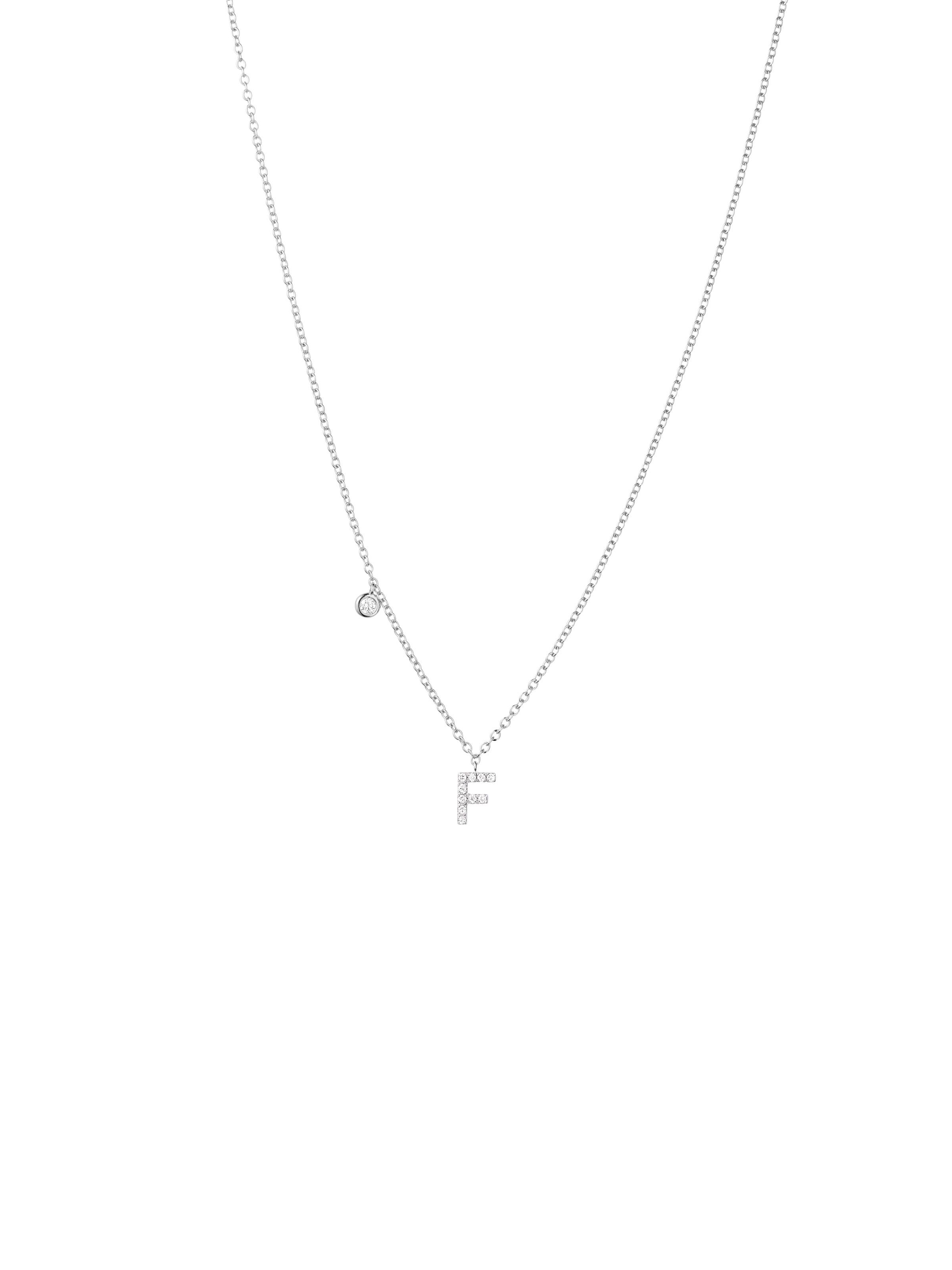 Minimalism pendant letter F
