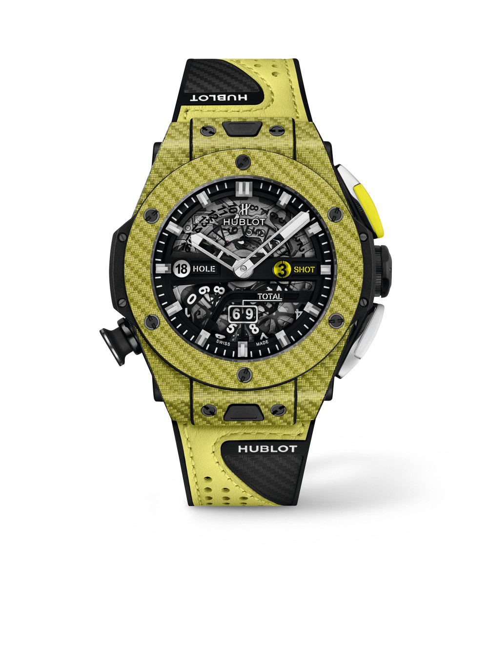 Big Bang Unico Golf Yellow Carbon 01