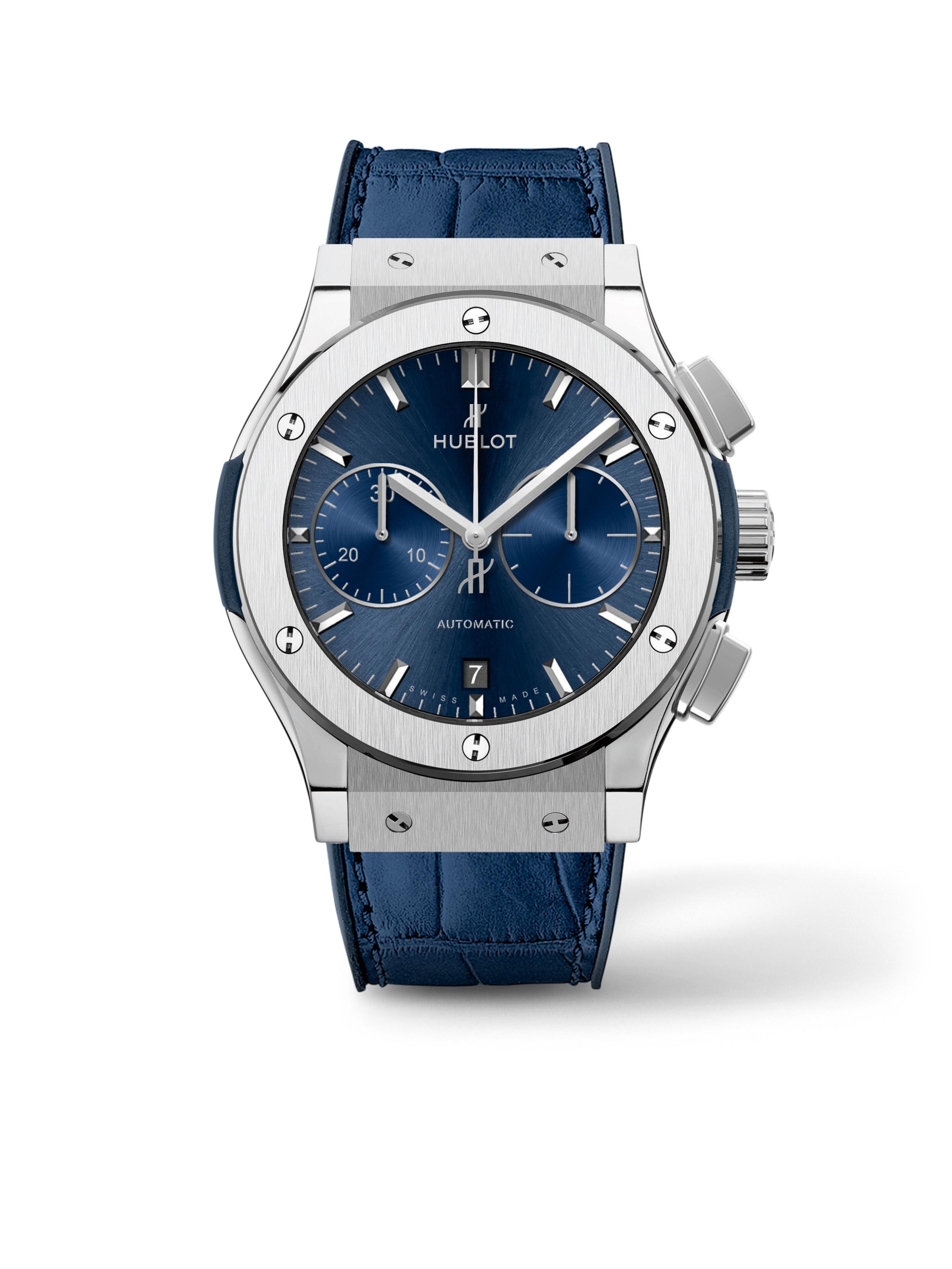 Classic Fusion Chronograph Titanium Blue