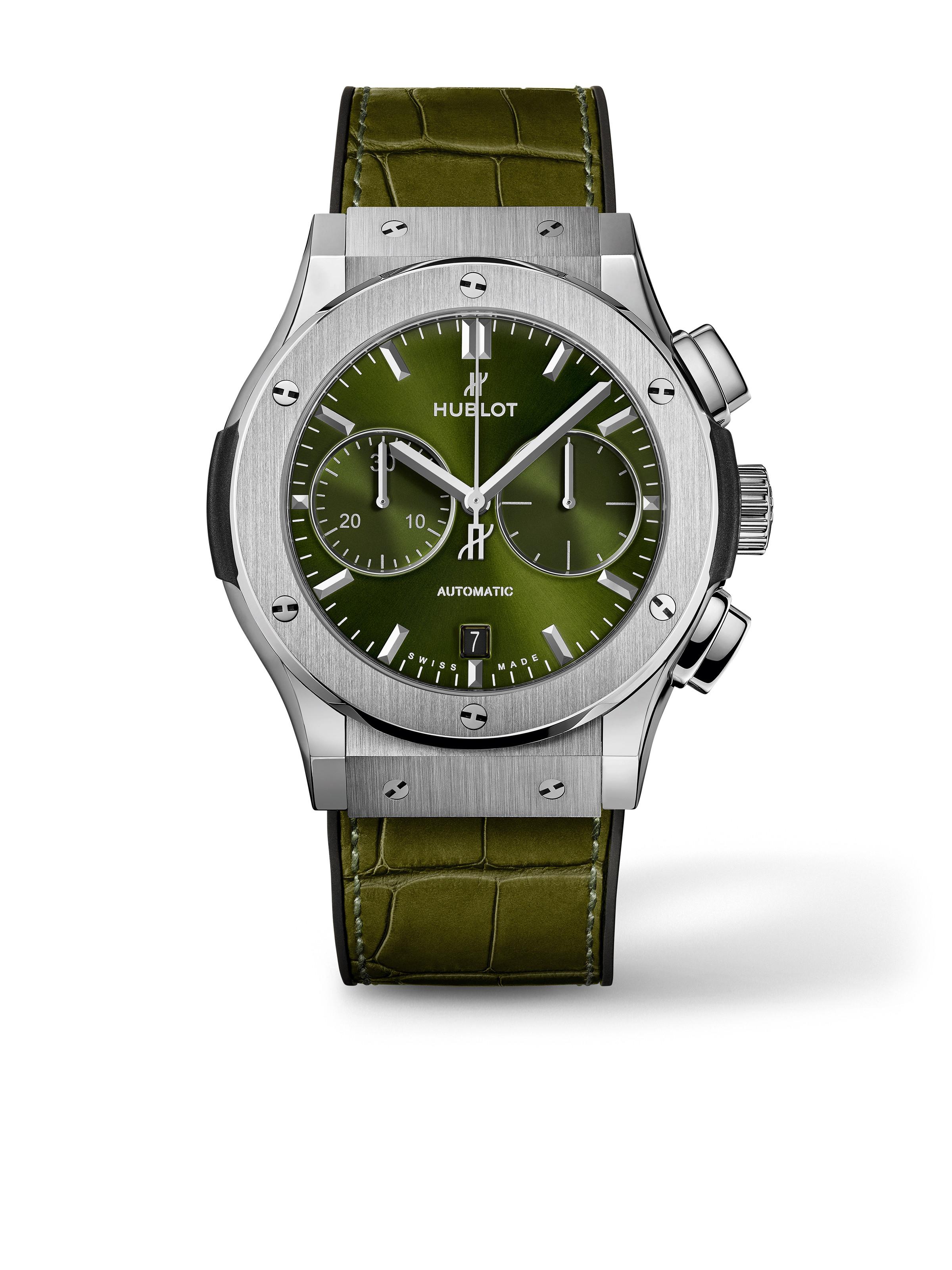 Classic Fusion Chronograph Titanium Green