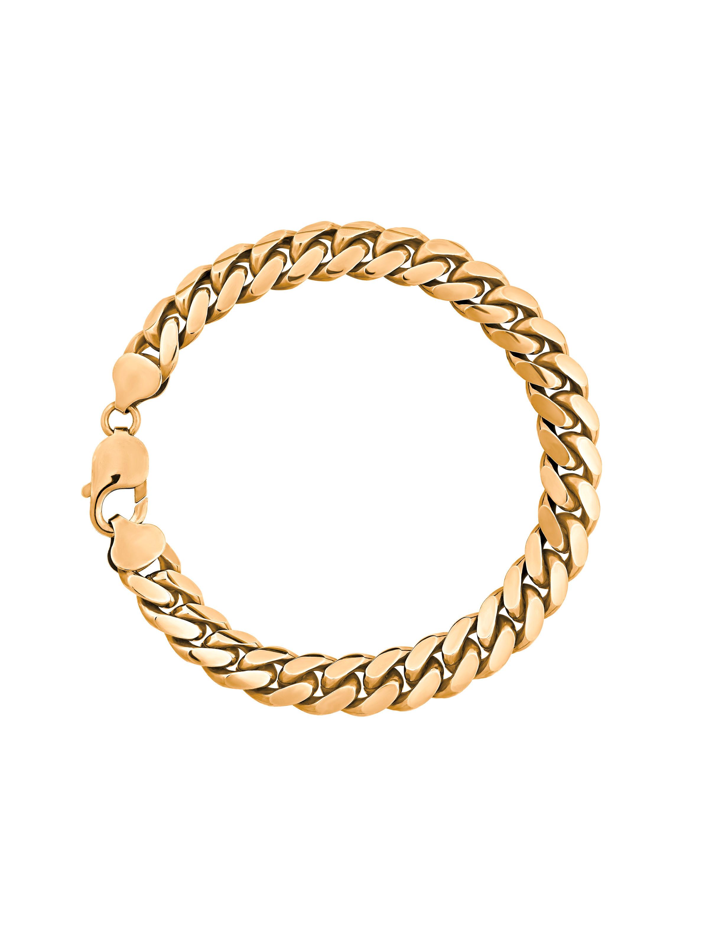 Bracelet gourmette en or