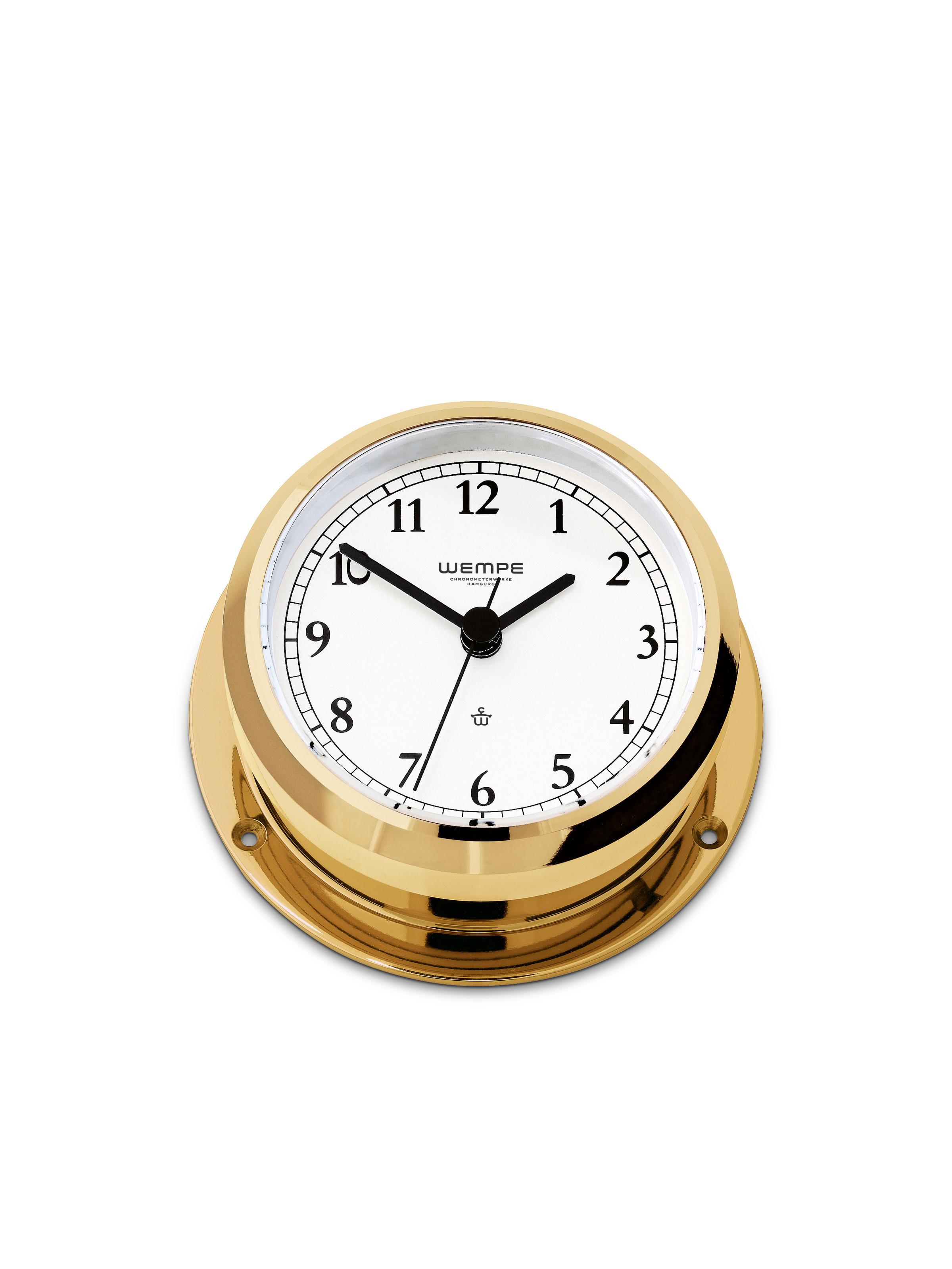 Ship's Clock PIRAT II brass