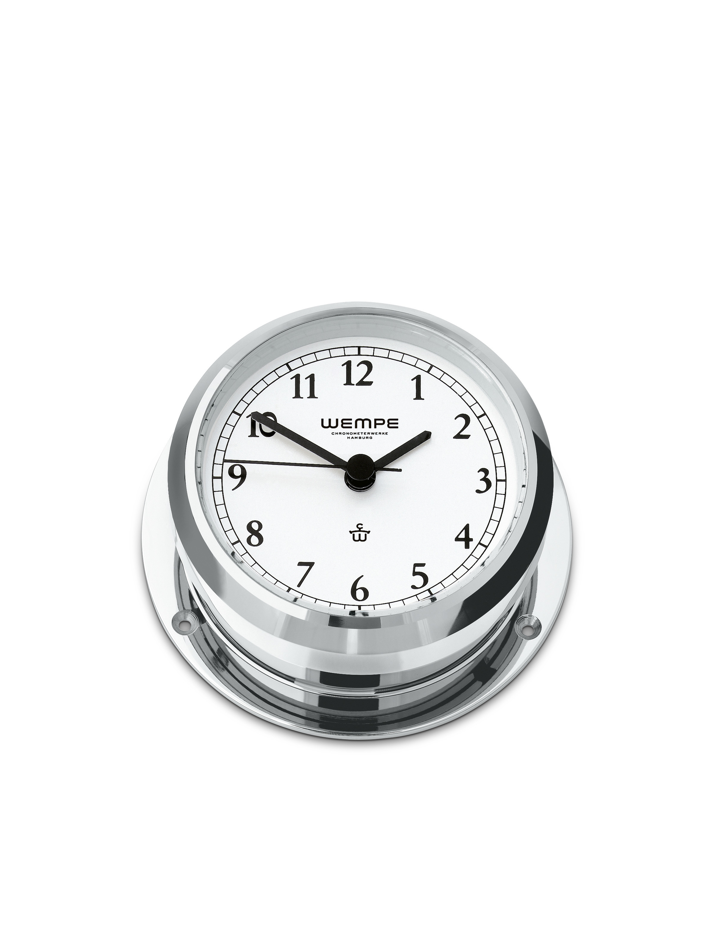Ship's clock PIRAT II Chrome-plated brass