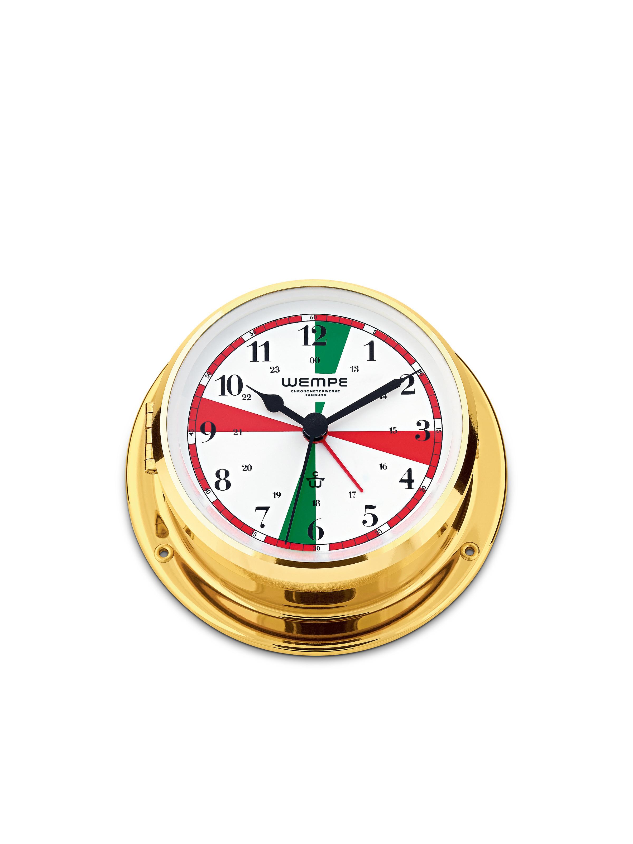 Radio room ship's clock SKIFF brass