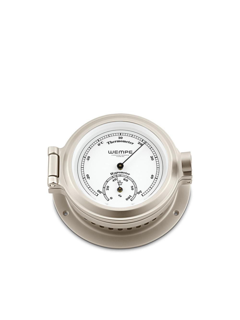 Thermo-Hygrometer NAUTIK Messing vernickelt 01