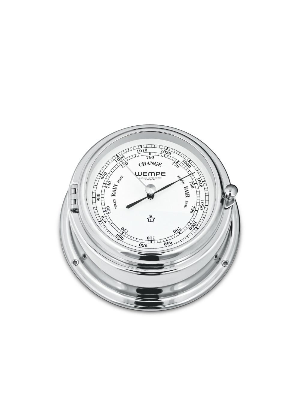 Barometer BREMEN II Messing verchromt 01