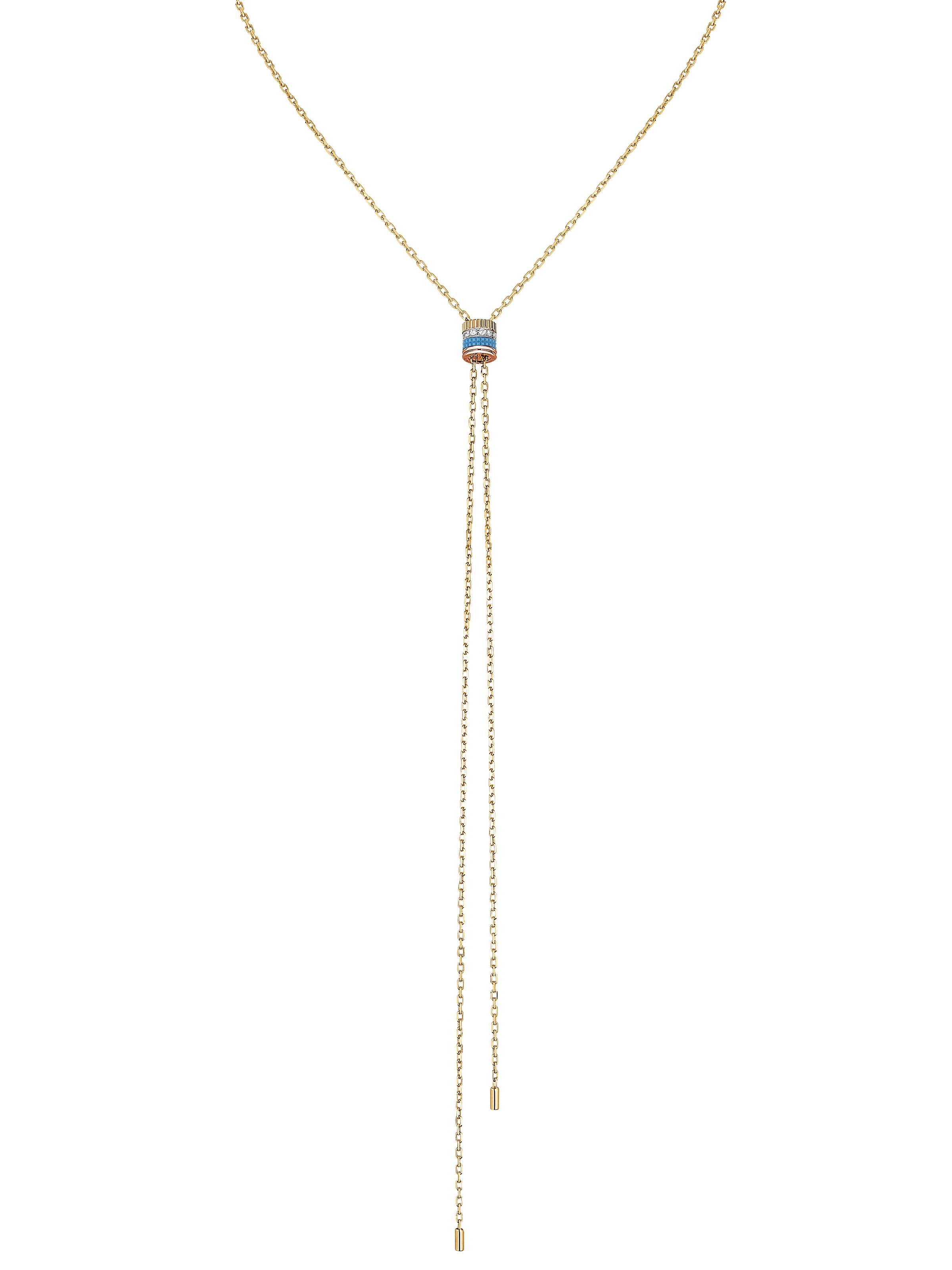 Quatre Blue Edition Y-necklace