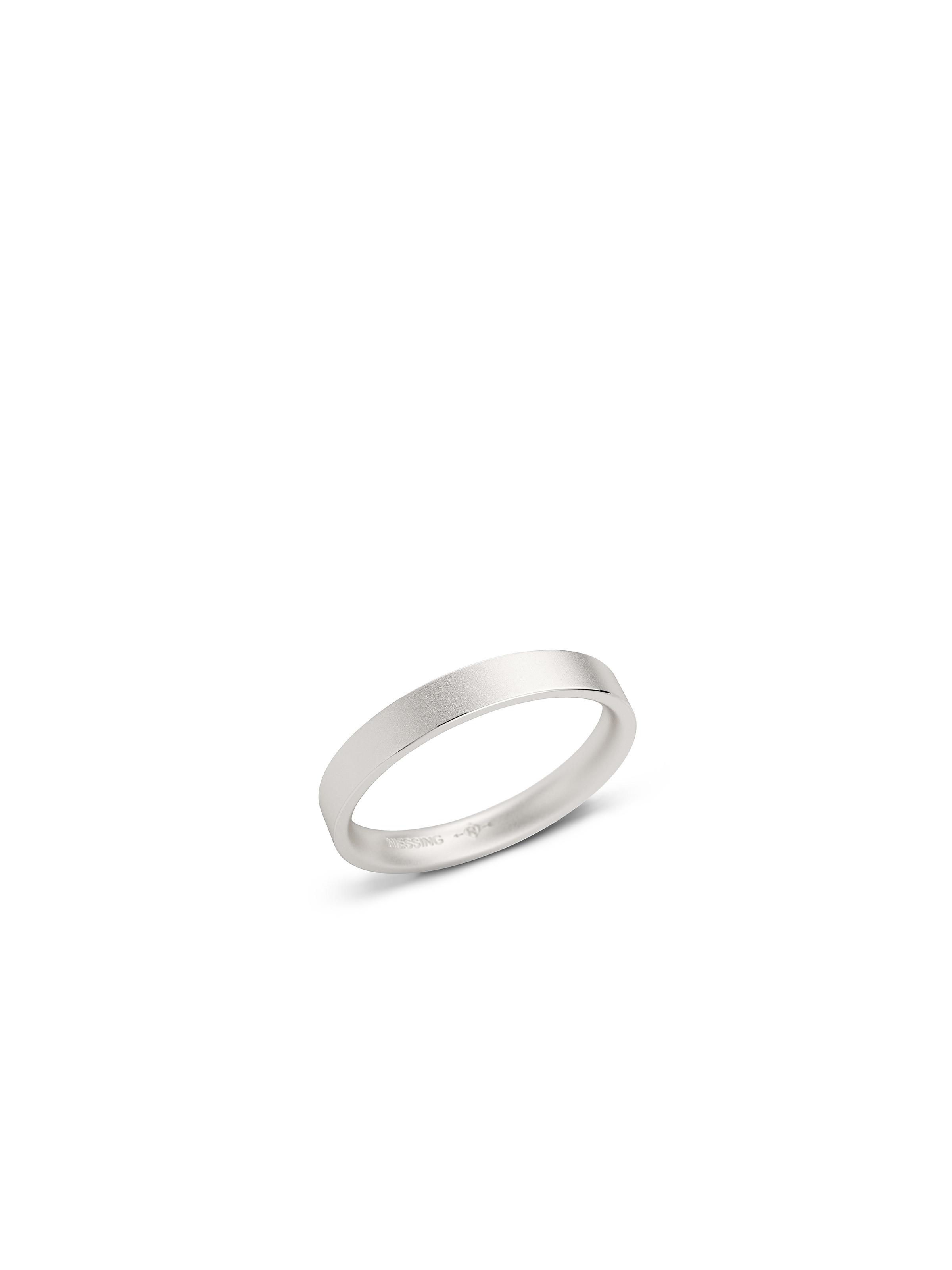 Cube wedding ring -rectangular/domed- with a fine-matt surface