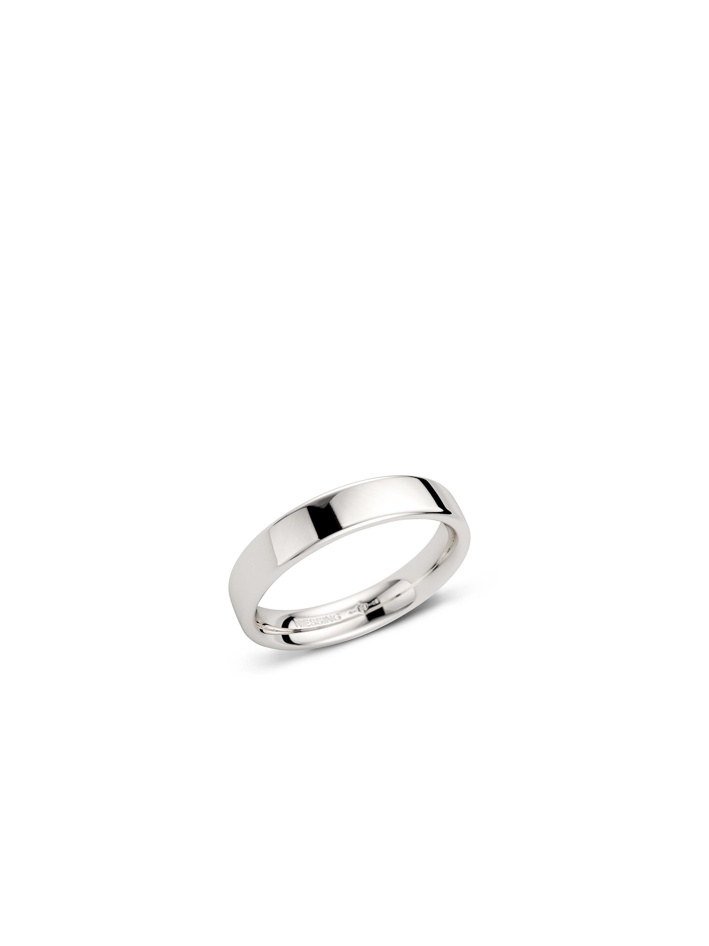 Soft Cube wedding ring -rectangular/soft- polished