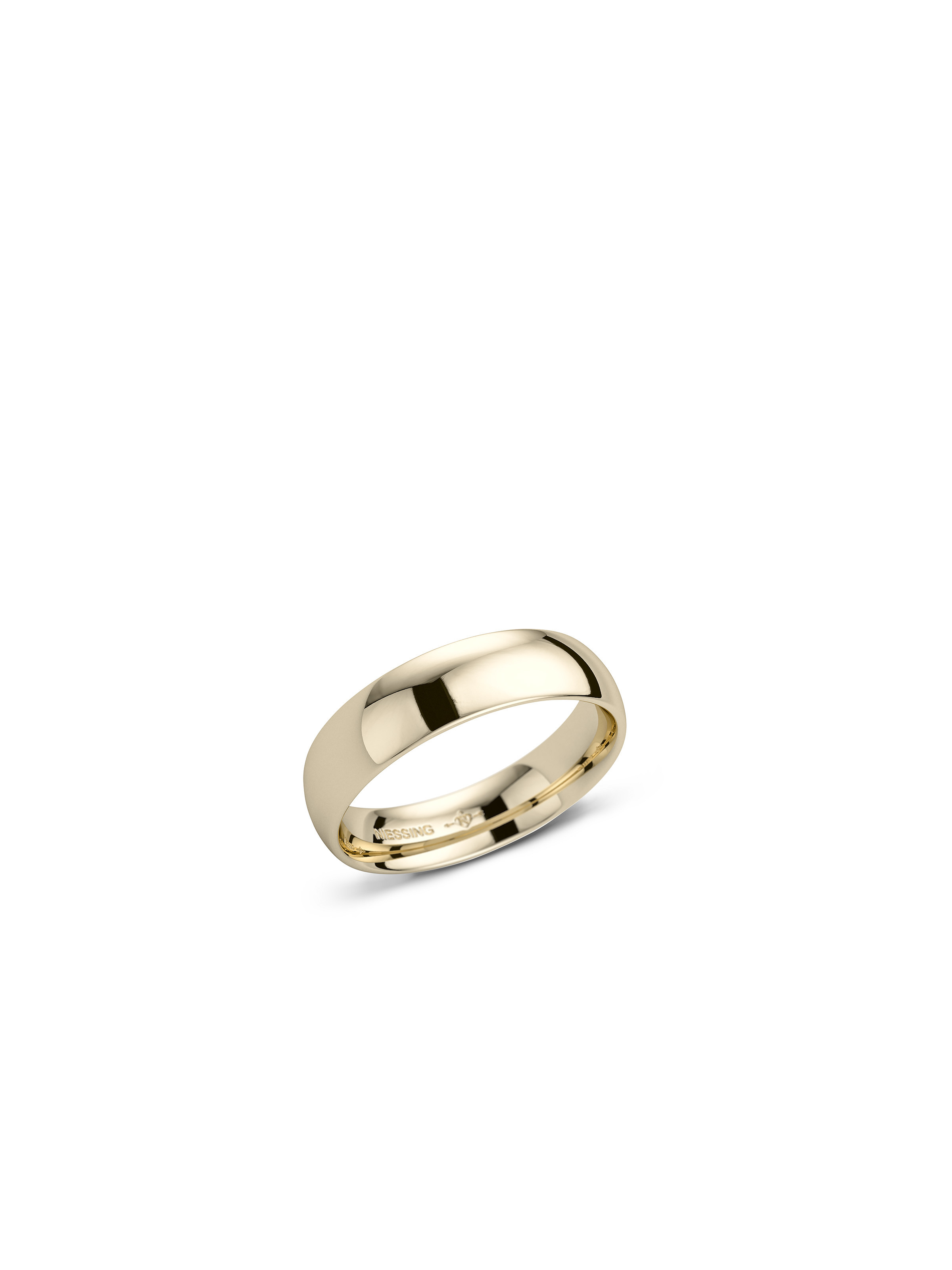 Navette wedding ring -ogival/flat- polished