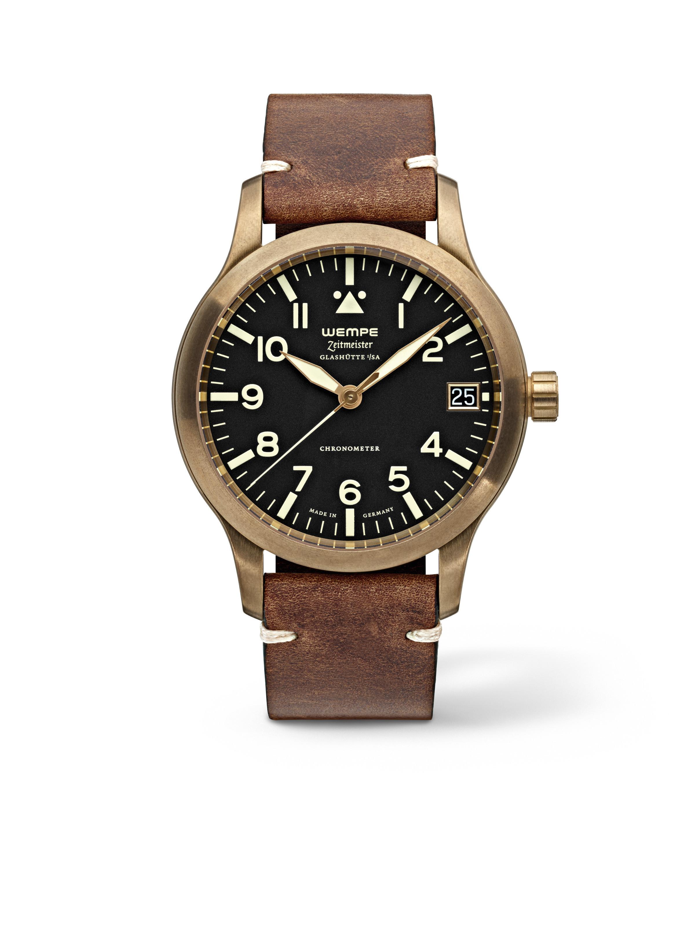 Zeitmeister Aviator Watch Automatic XL Bronze