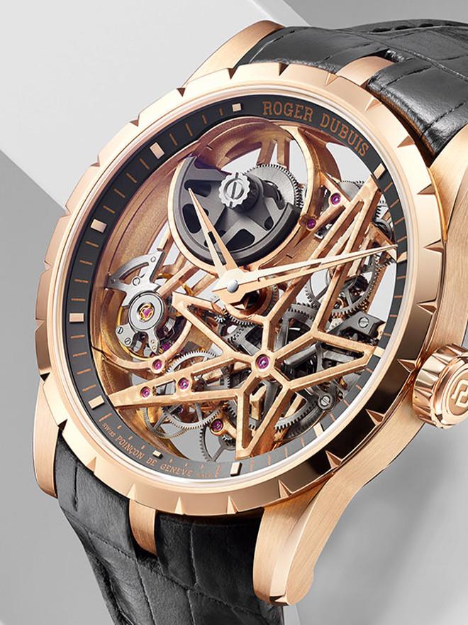 Exzentrisch in Technik und Optik:<br>Uhren aus dem Hause Roger Dubuis.