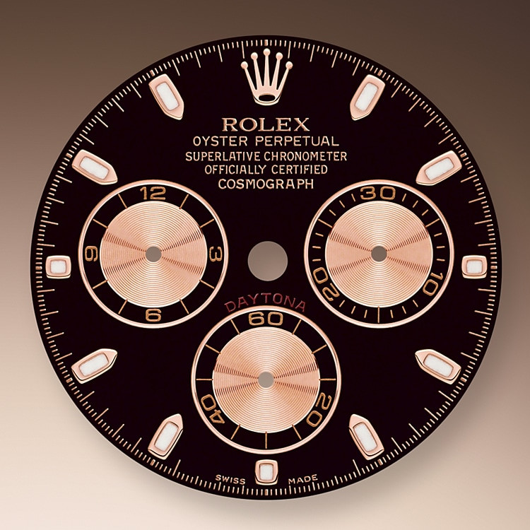 This model features a black and pink dial with snailed counters, 18 ct gold applique hour markers and hands with a Chromalight display, a highly-legible luminescent material. The central sweep seconds hand allows an accurate reading of 1/8 second, while the two counters on the dial display the lapsed time in hours and minutes. Drivers can accurately map out their track times and tactics without fail.