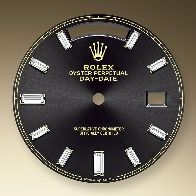 The sunray finish on Rolex dials is a predominant method in watchmaking of achieving pure metallic colour dials such as shades of silver grey, rhodium or ruthenium.