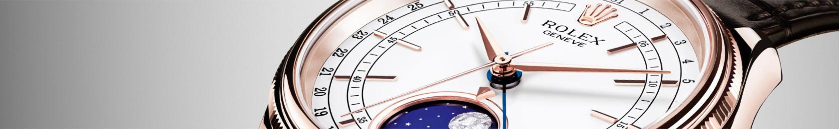 Detailaufnahme eines Zifferblatt einer Rolex Cellini