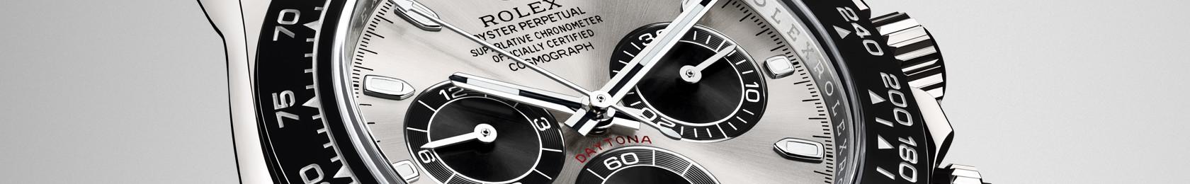 Detailaufnahme eines Rolex Cosmograph Zifferblatt