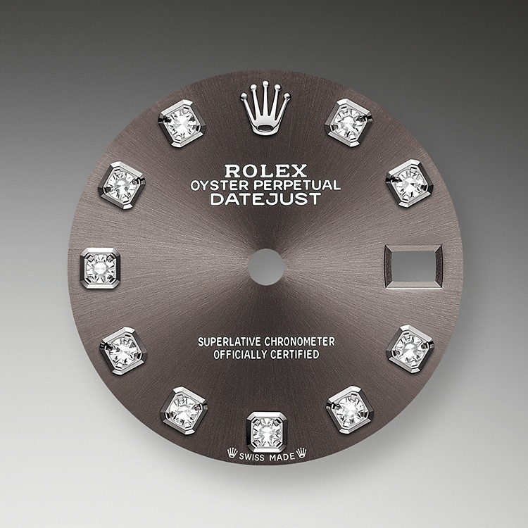 The sunray finish on Rolex dials is a predominant method in watchmaking of achieving pure metallic color dials such as shades of silver gray, rhodium or ruthenium.