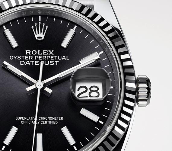 Zifferblatt einer Rolex Datejust