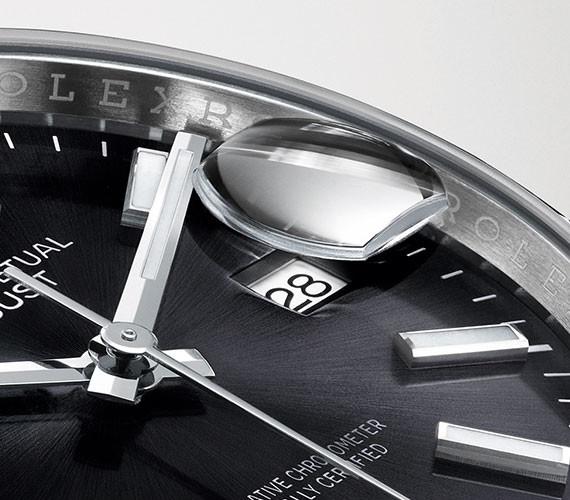 Zyklolupe einer Rolex Datejust