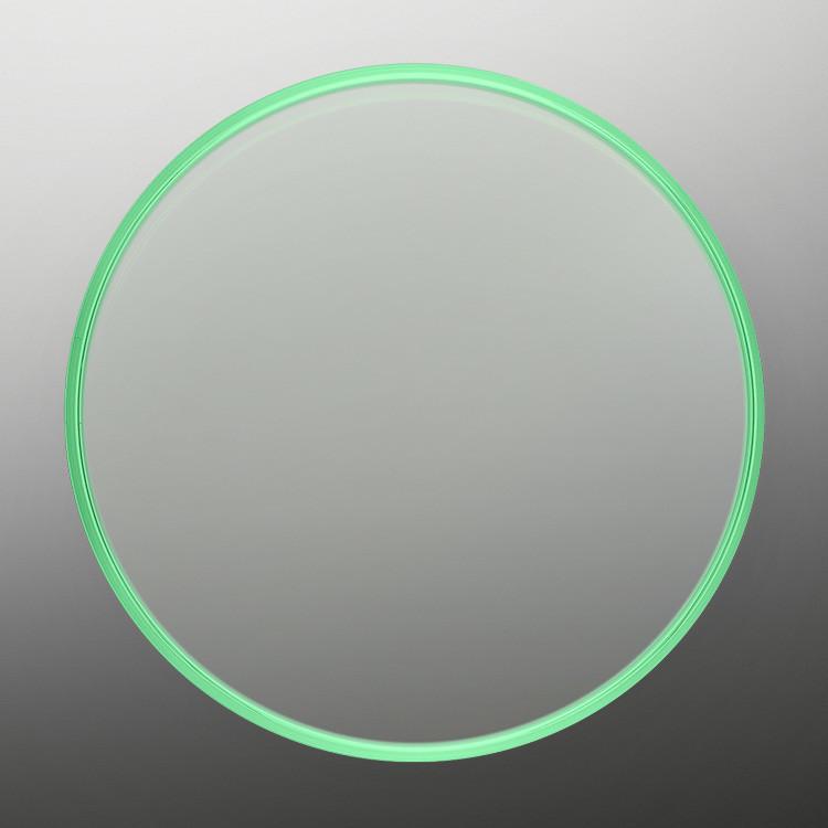 Das einzigartige, von Rolex entwickelte Uhrglas in grünem Saphir ist kratzfest und lichtecht, exklusiv für das Modell Milgauss.