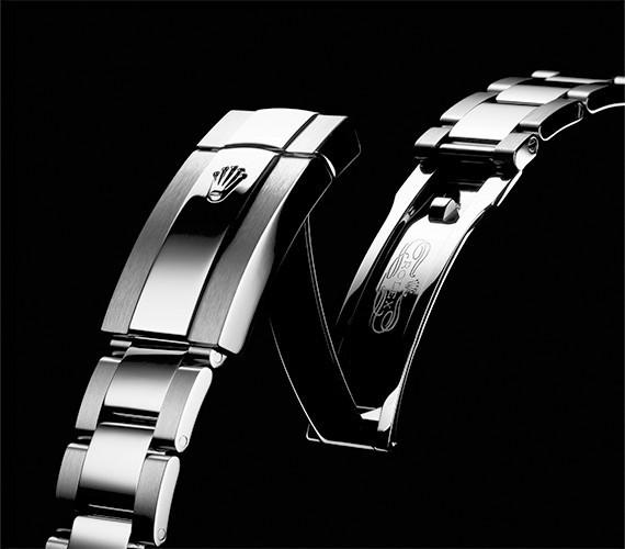 Verschluss und Armband einer Oyster Perpetual