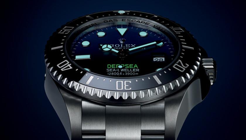 Rolex Sea-Dweller Zifferblatt mit leuchtenden Zahlen