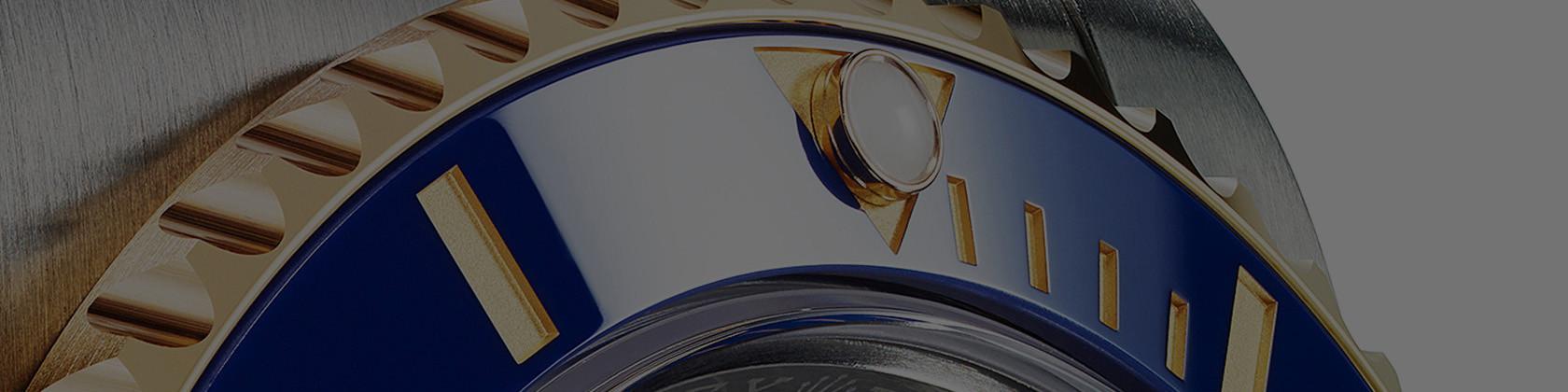 Detailaufnahme der Rolex Submariner Lünette