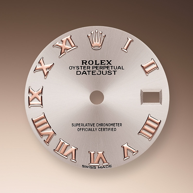 The sunray finish on Rolex dials is a predominant method in watchmaking of achieving pure metallic color dials such as shades of silver gray, rhodium or ruthenium. Silver-plating is mostly used as a base layer for the sunray finish, where further color is added to the prepared dial. Sometimes colors such as champagne are achieved through electroplating with more than half a dozen different metals.