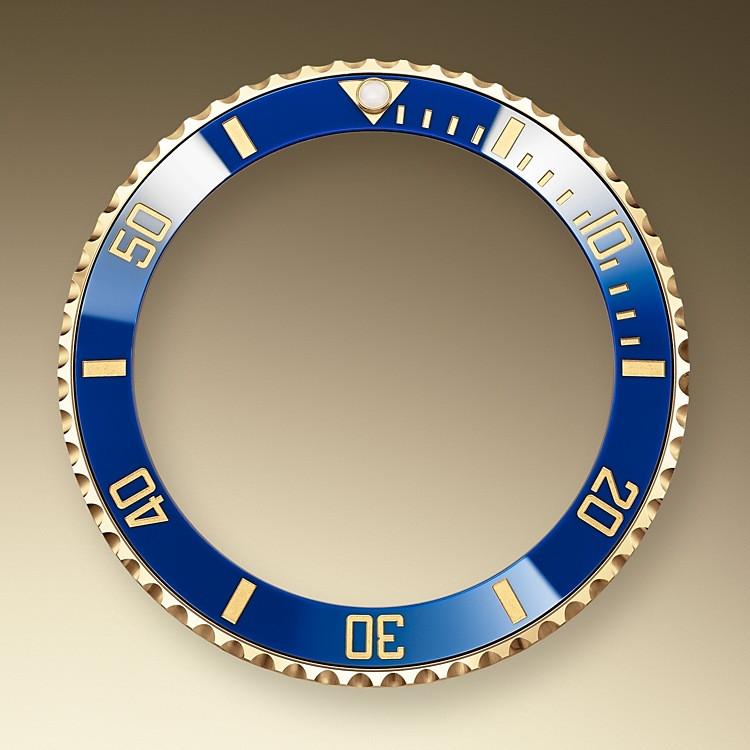 El bisel giratorio del Submariner es una característica fundamental de este reloj. Sus graduaciones grabadas de 60 minutos permiten controlar con seguridad y precisión el tiempo de inmersión y las paradas de descompresión.