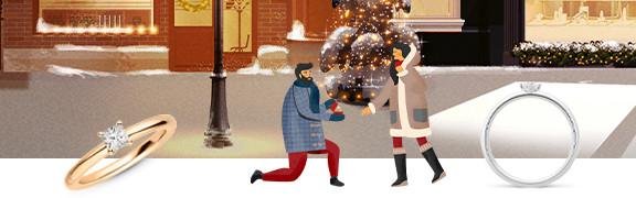 Für einen brillanten Antrag unter dem Weihnachtsbaum
