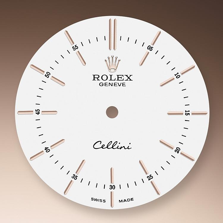 Das Zifferblatt der Cellini Time unterstreicht in seiner klaren Schlichtheit die zeitlosen Stilelemente des uhrmacherischen Klassizismus und verleiht ihnen in der Neuinterpretation eine elegant-moderne Note.