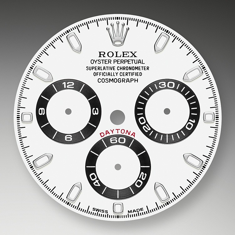 This model features a white dial with snailed counters, 18 ct gold applique hour markers and hands with a Chromalight display, a highly-legible luminescent material. The central sweep seconds hand allows an accurate reading of 1/8 second, while the two counters on the dial display the lapsed time in hours and minutes. Drivers can accurately map out their track times and tactics without fail.